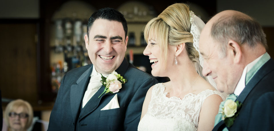 Couple wedding vows, natural, greenmeadow golf club cwmbran Wedding Photography